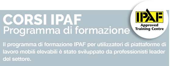 FORMAZIONE IPAF (International Powered Access Federation)